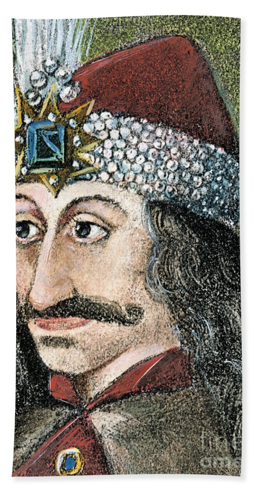 15th Century Beach Towel featuring the photograph Vlad IIi (1431-1477) by Granger