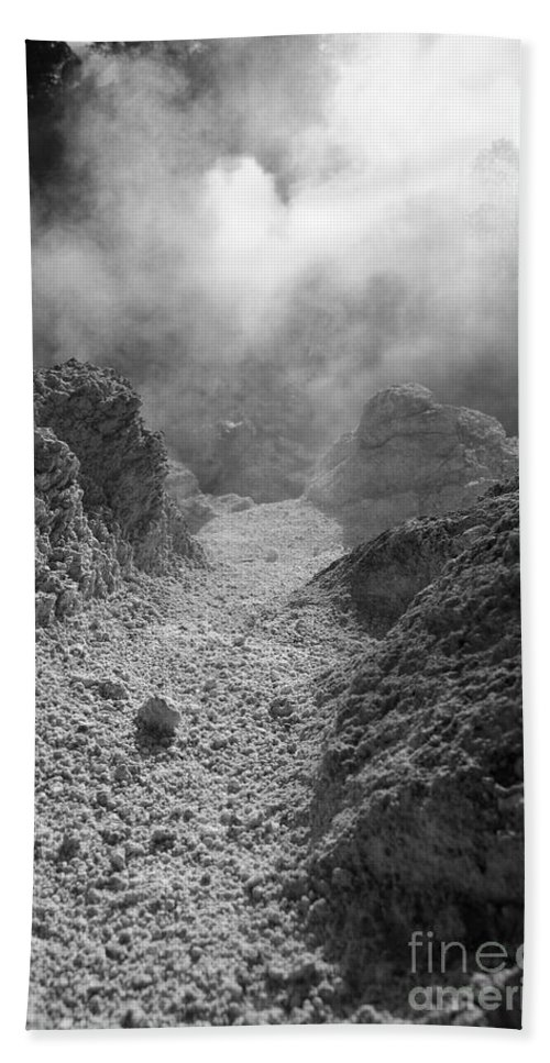 Sulphur Beach Towel featuring the photograph Volcanic Steam by Gaspar Avila