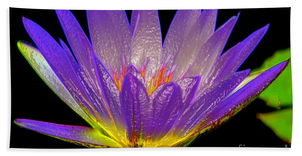 Water Lily Beach Towel featuring the photograph Water Lily by Mark Gilman