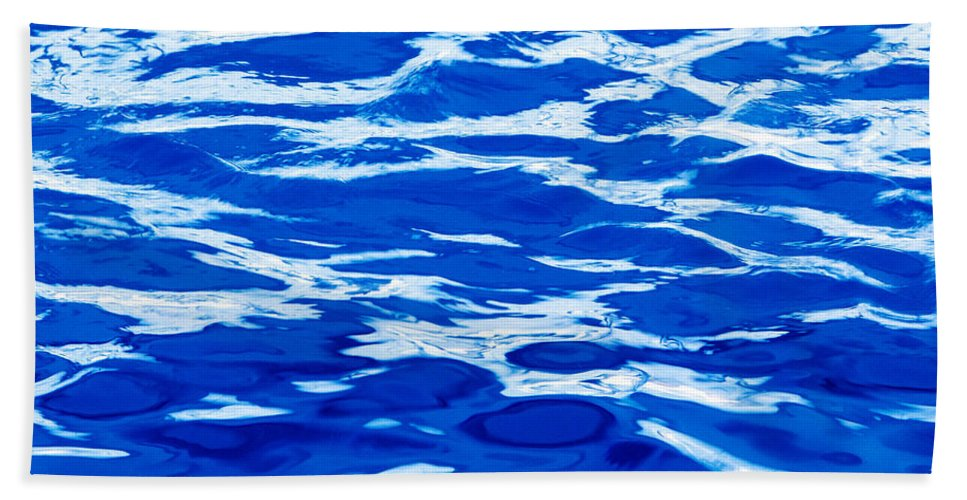 Abstract Beach Towel featuring the photograph Blue Water by Skip Nall