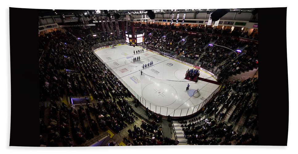 Hockey Beach Towel featuring the photograph Wfcu Centre by Cale Best