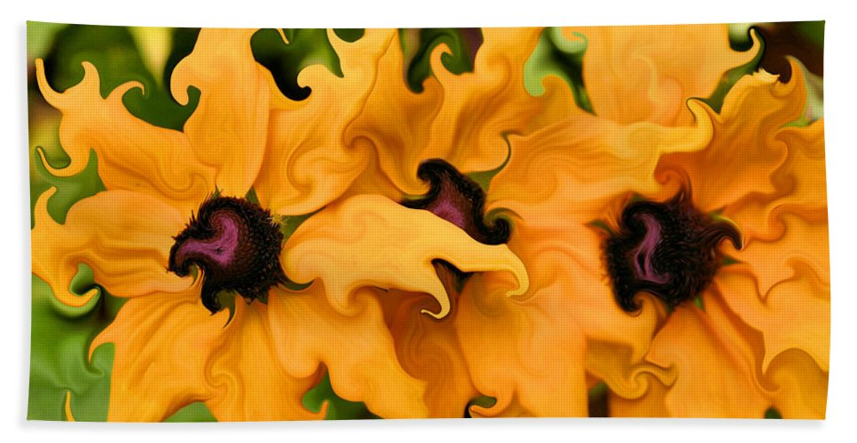 Black-eyed Susan Beach Towel featuring the photograph Wicked Susan by Kristin Elmquist