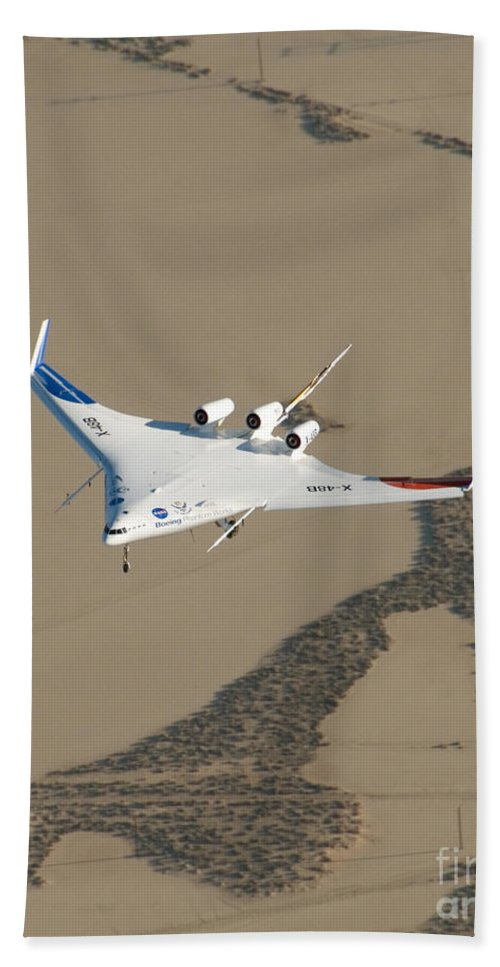 Aerospace Beach Towel featuring the photograph X-48b Blended Wing Body by Nasa