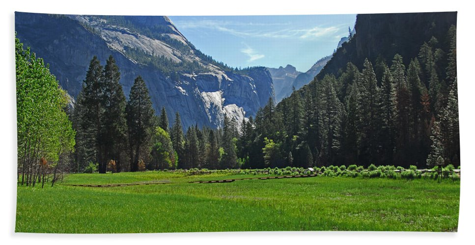 Spring Beach Towel featuring the photograph Yosemite Meadow by Lynn Bauer