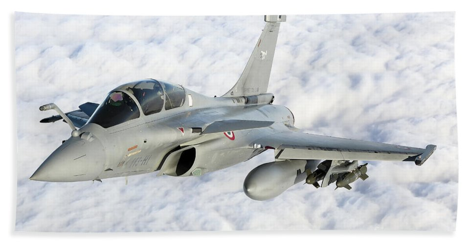 French Air Force Beach Towel featuring the photograph Dassault Rafale B Of The French Air by Gert Kromhout