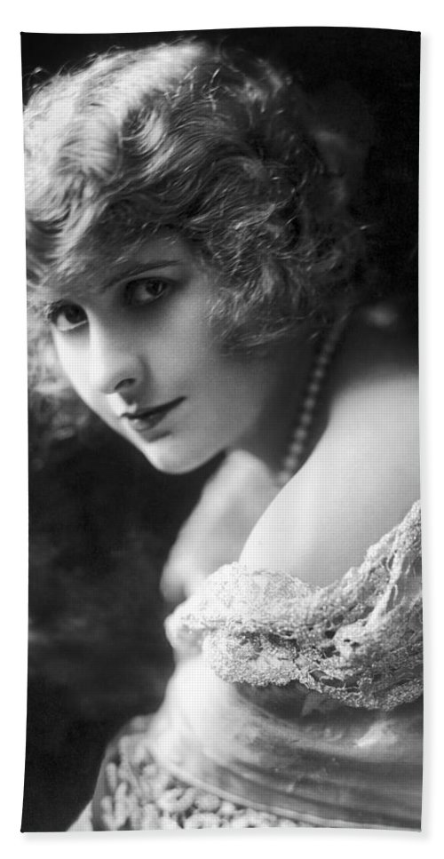 -nec13- Beach Towel featuring the photograph Pearl White (1889-1938) by Granger