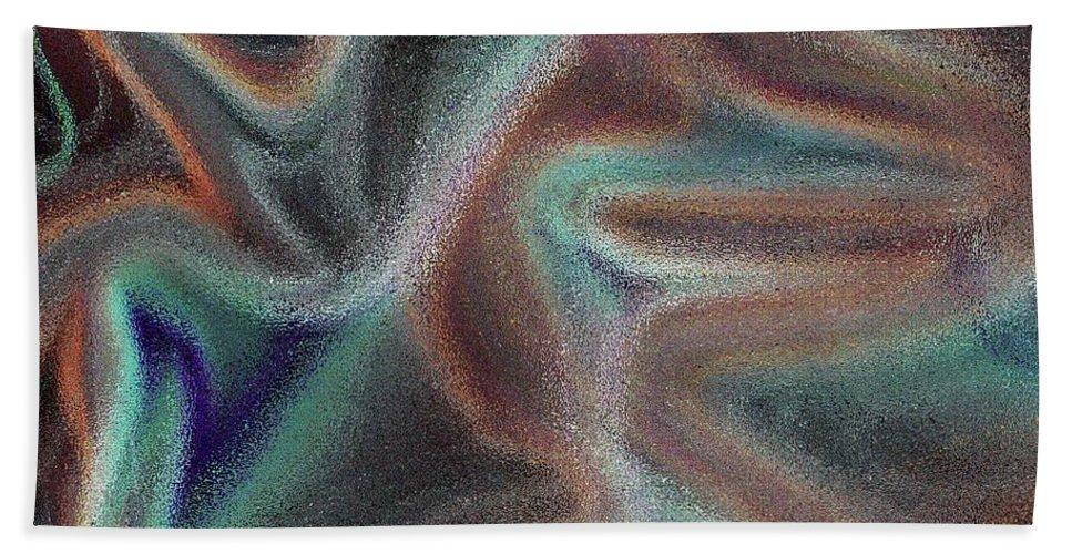 Art Beach Towel featuring the digital art Digital Art Abstract by David Pyatt