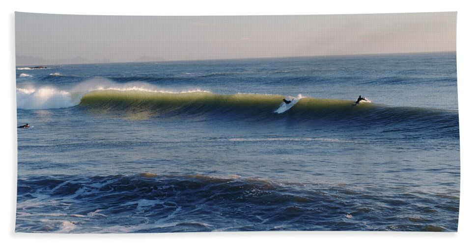 Ocean Beach Towel featuring the photograph Surfers Make The Ocean Better Series by Teri Schuster