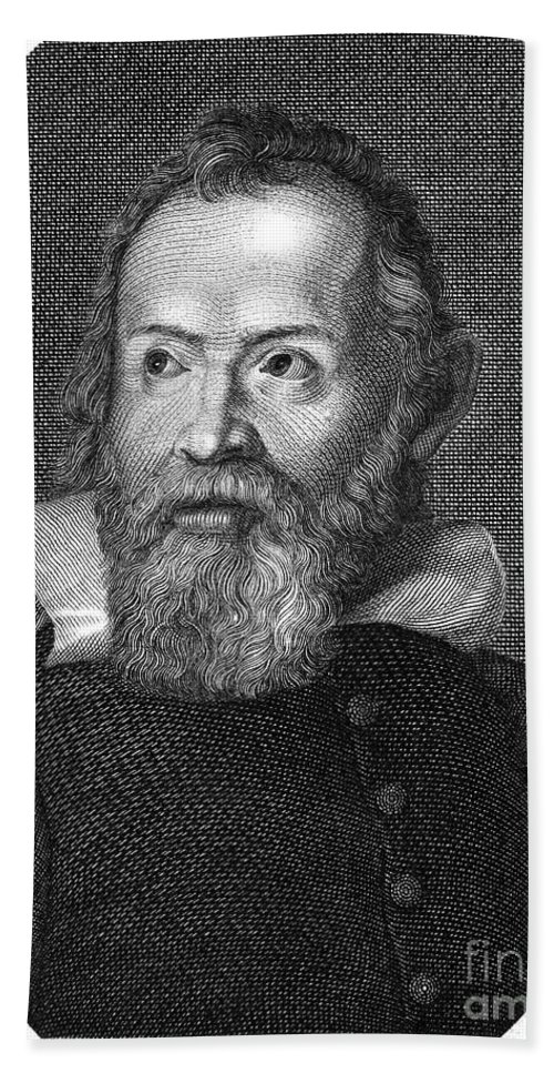 Astronomer Beach Towel featuring the photograph Galileo Galilei (1564-1642) by Granger