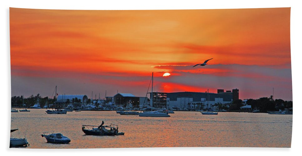 Sunset Beach Towel featuring the photograph 15- Old Port Cove by Joseph Keane