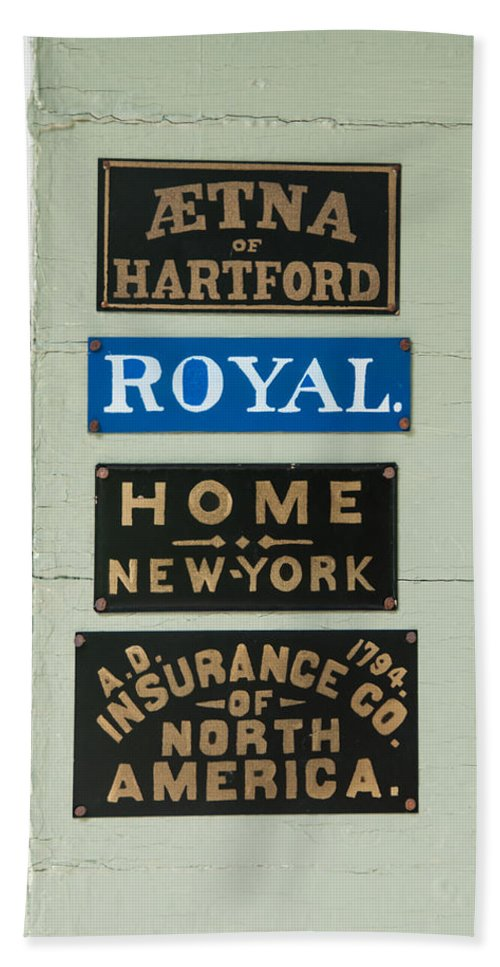 Guy Whiteley Photography Beach Towel featuring the photograph 1825 Insurance Agency by Guy Whiteley