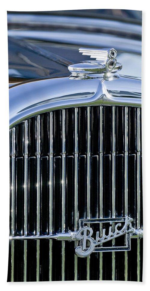 1932 Buick Series 60 Phaeton Beach Towel featuring the photograph 1932 Buick Series 60 Phaeton Grille by Jill Reger