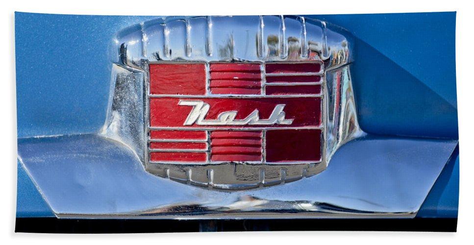 1951 Nash Beach Towel featuring the photograph 1951 Nash Emblem by Jill Reger