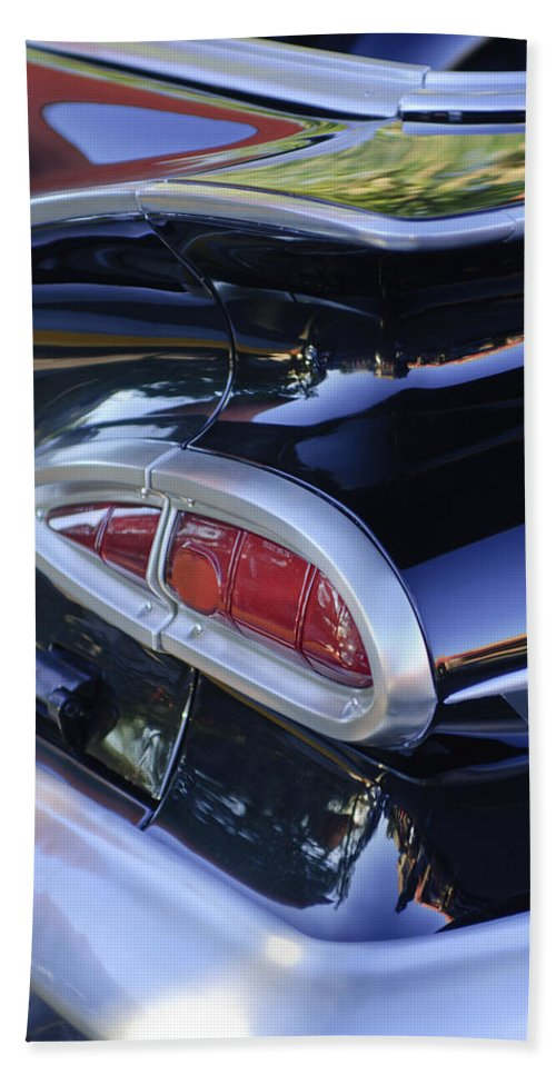 1959 Chevrolet Impala Beach Towel featuring the photograph 1959 Chevrolet Impala Taillight by Jill Reger