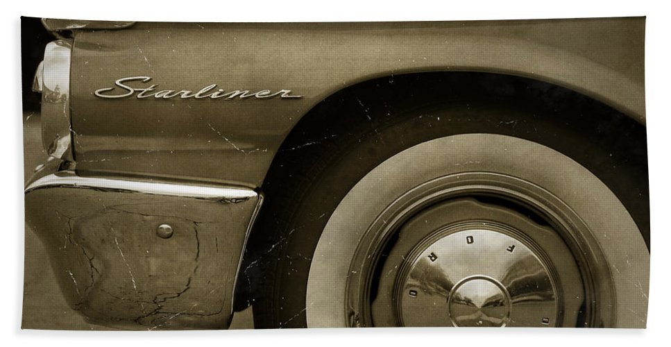 1961 Beach Sheet featuring the photograph 1961 Ford Starliner by Gordon Dean II