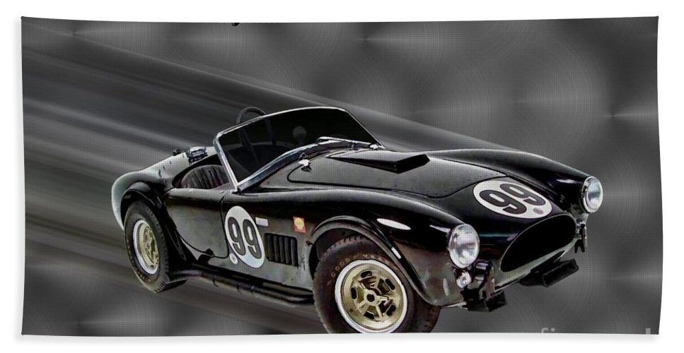 1963 Shelby Cobra 289 Beach Towel featuring the digital art 1963 Shelby Cobra 289 by Tommy Anderson