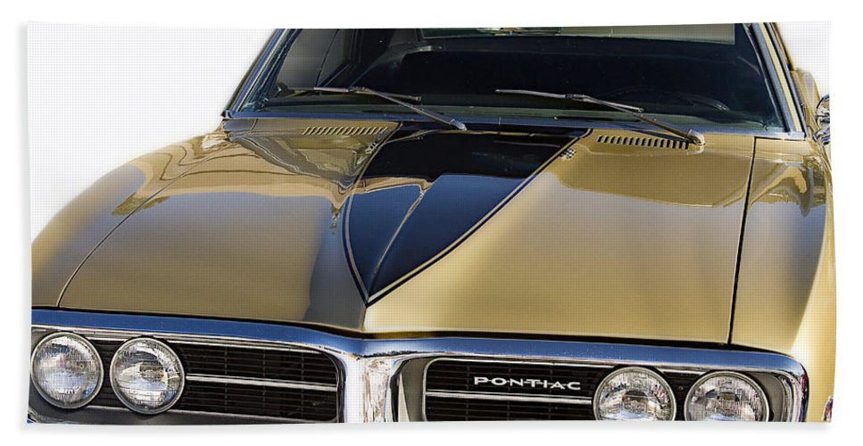 Emblem Beach Towel featuring the photograph 1967 Bronze Pontiac Firebird by James BO Insogna