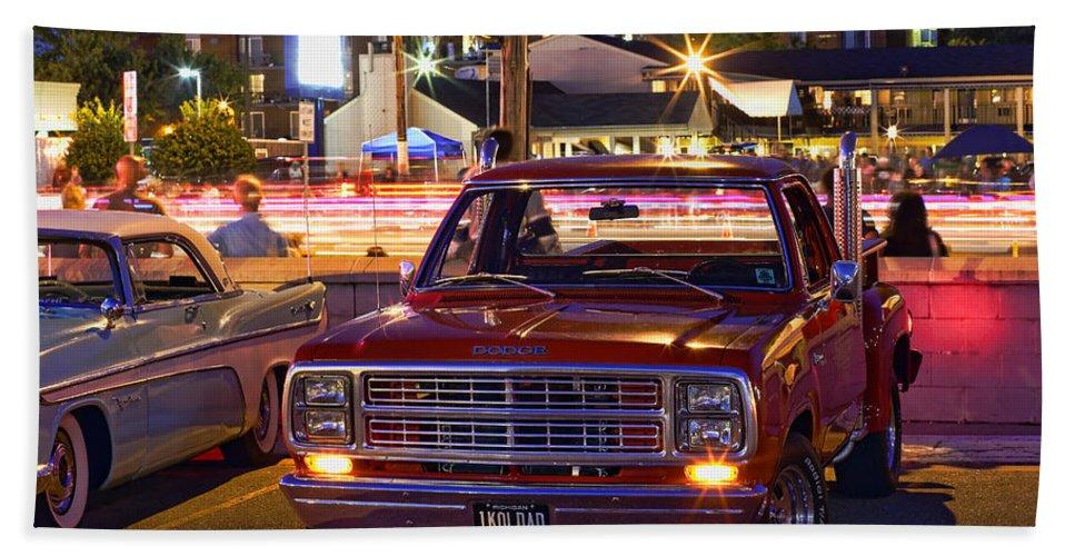 1979 Beach Towel featuring the photograph 1979 Dodge Li'l Red Express Truck by Gordon Dean II
