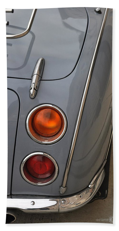 Nissan Beach Towel featuring the photograph 1991 Nissan Figaro Taillights by Tim Nyberg