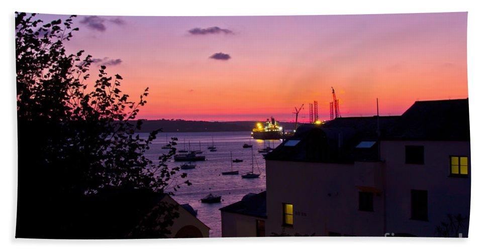 Seascape Beach Towel featuring the photograph Sunrise Falmouth Docks by Brian Roscorla