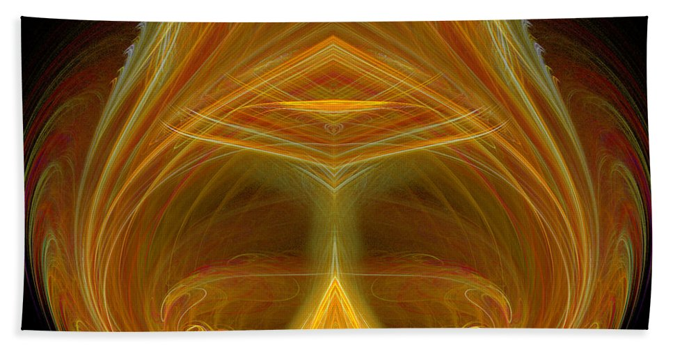Fractal Digital Art Beach Towel featuring the photograph Abstract 103 by Mike Nellums