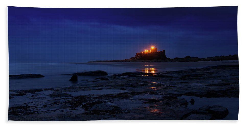 Bamburgh Beach Towel featuring the photograph Bamburgh Castle by David Pringle