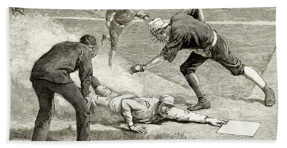 1885 Beach Towel featuring the photograph Baseball Game, 1885 by Granger