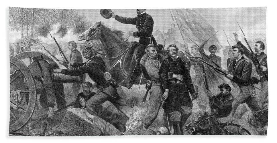 1864 Beach Towel featuring the photograph Battle Of Spotsylvania by Granger