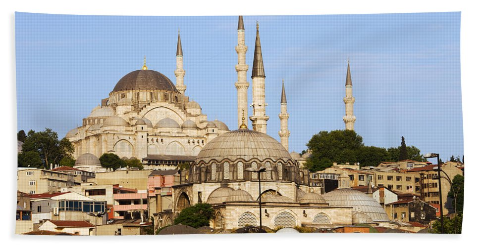 Mosque Beach Towel featuring the photograph City Of Istanbul by Artur Bogacki