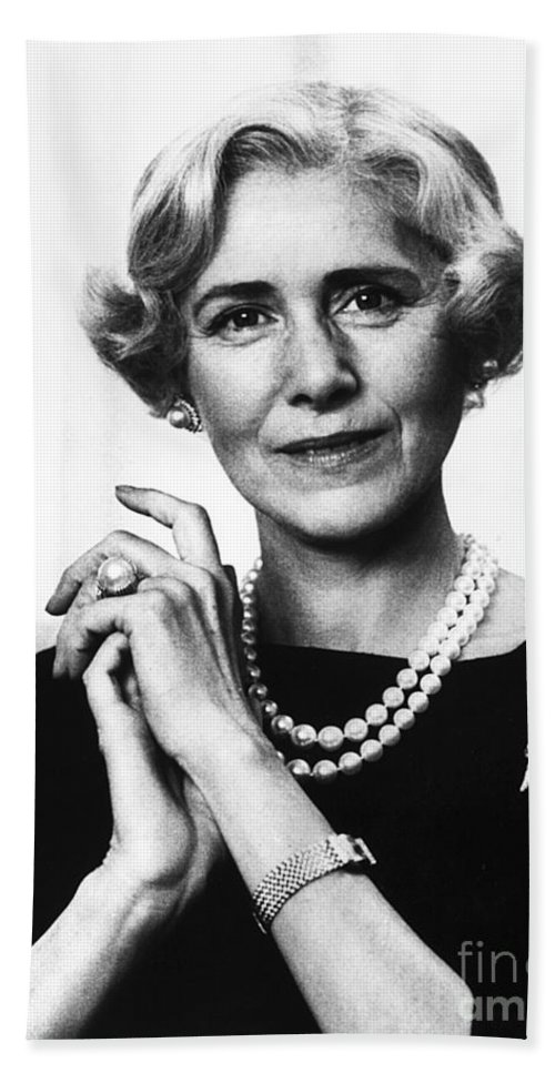 1963 Beach Towel featuring the photograph Clare Boothe Luce (1903-1987) by Granger