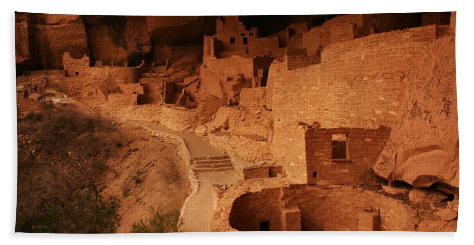 Cliff Palace Beach Towel featuring the photograph Cliff Palace Mesa Verde National Park by Benjamin Dahl