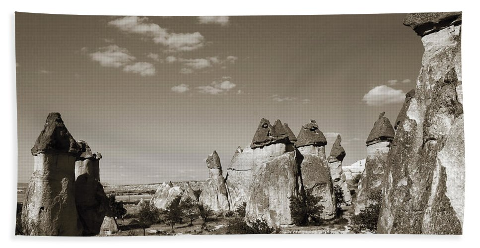 Fairy Chimney Beach Towel featuring the photograph Fairy Chimney In Goreme by RicardMN Photography