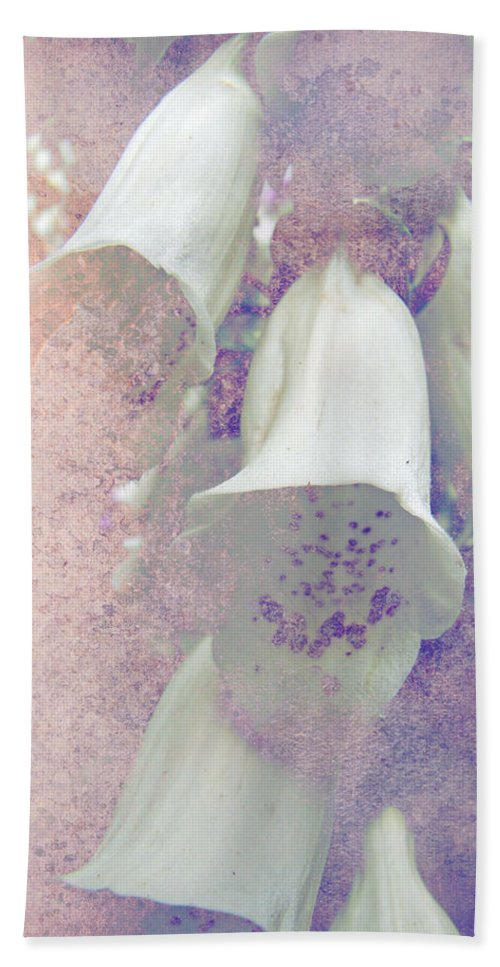 Foxgloves Beach Towel featuring the photograph Foxgloves by Mother Nature