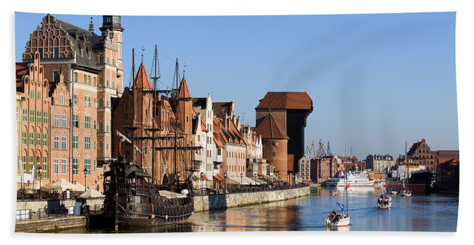 Gdansk Beach Towel featuring the photograph Gdansk In Poland by Artur Bogacki