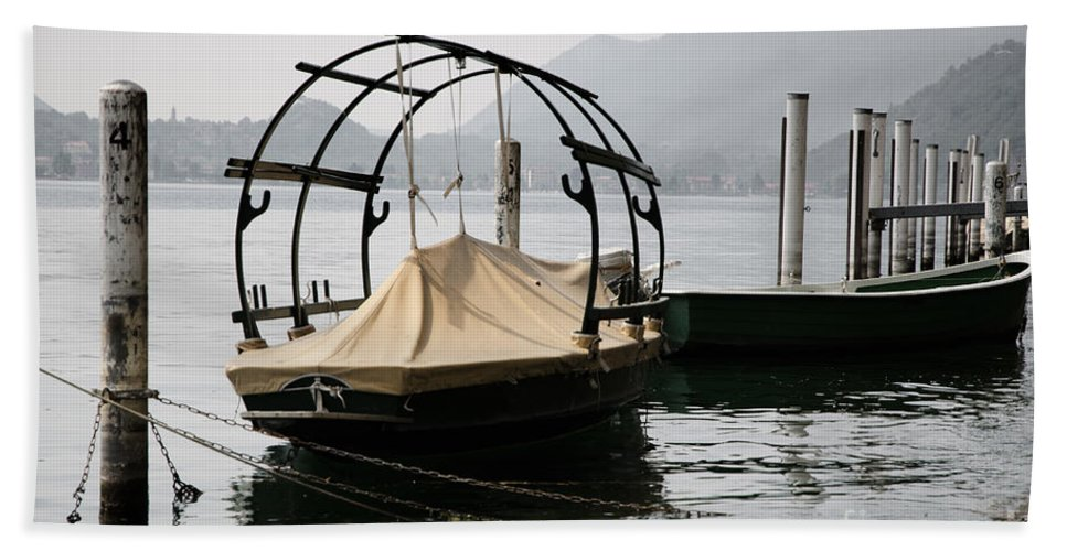 Boat Beach Towel featuring the photograph Old Fishing Boat by Mats Silvan