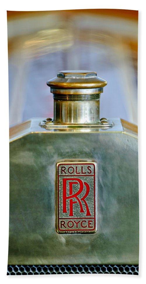 Rolls-royce Beach Towel featuring the photograph Rolls-royce Hood Ornament by Jill Reger
