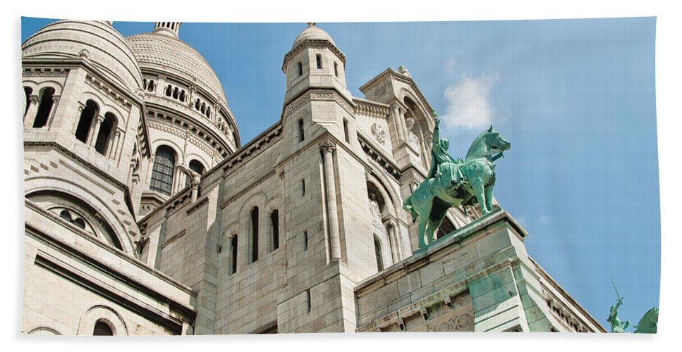 France Beach Towel featuring the photograph Sacre Coeur Basilica Paris France by Jon Berghoff