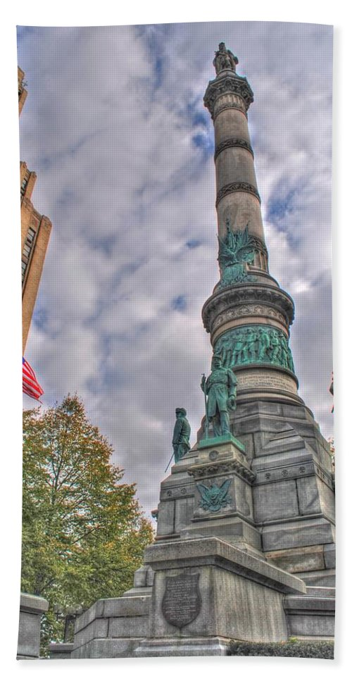 Beach Towel featuring the photograph Soldiers And Sailors Monument In Lafayette Square by Michael Frank Jr