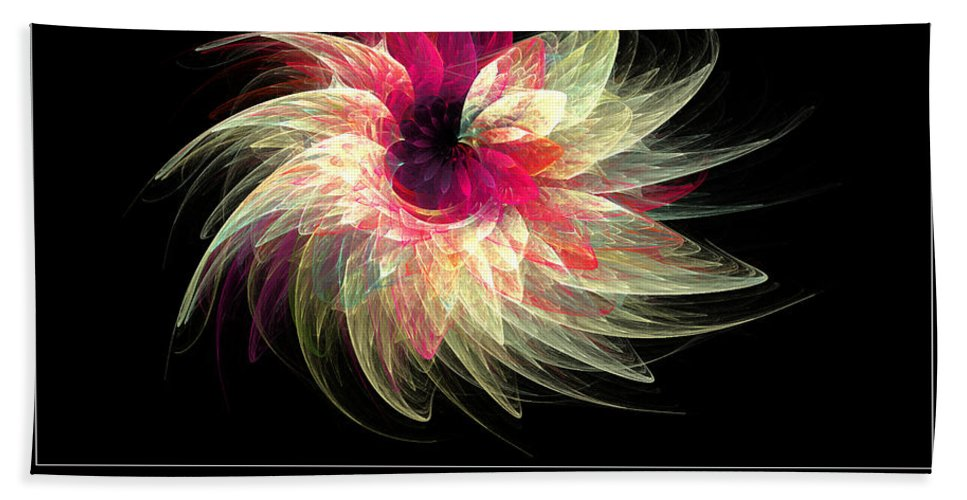 Fractal Art Beach Towel featuring the photograph Untitled 34 by Mike Nellums