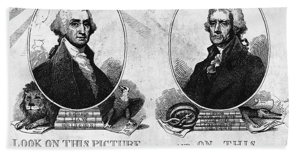 1807 Beach Towel featuring the photograph Thomas Jefferson (1743-1826) by Granger