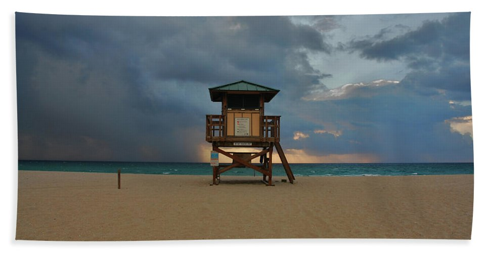 Storm Clouds Beach Beach Towel featuring the photograph 26- Storm Front by Joseph Keane