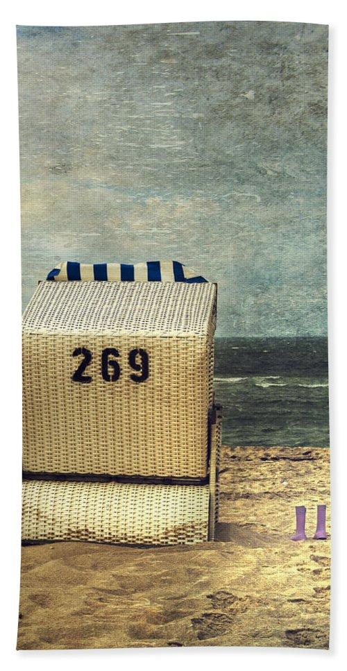 Beach Chair Beach Towel featuring the photograph Beach Chair by Joana Kruse