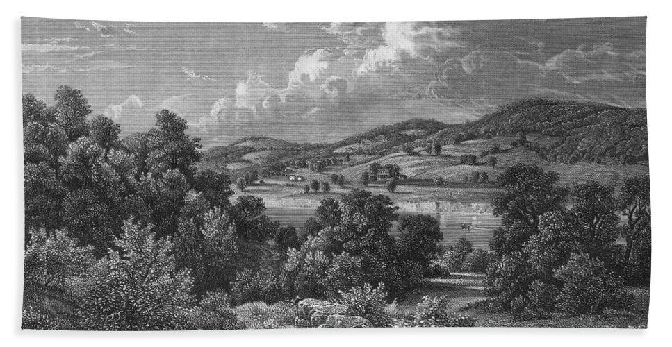 1755 Beach Towel featuring the photograph Braddock: Fort Duquesne by Granger
