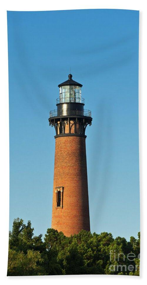Corolla Beach Towel featuring the photograph Currituck Beach Lighthouse by John Greim