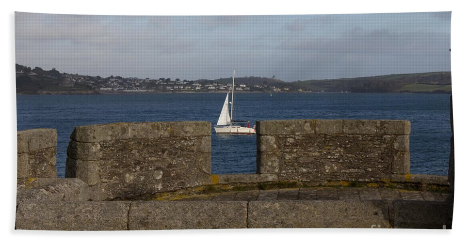 Falmouth Beach Towel featuring the photograph Falmouth Harbour by Brian Roscorla