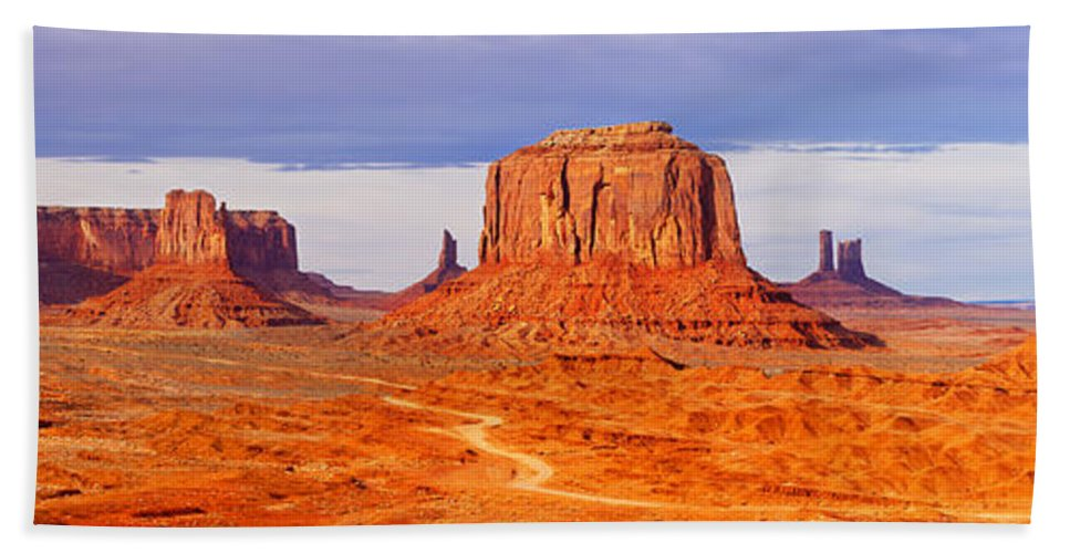 America Beach Towel featuring the photograph Monument Valley by Brian Jannsen