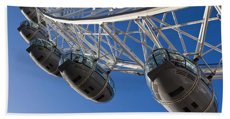 London Beach Towel featuring the photograph The London Eye by David Pyatt