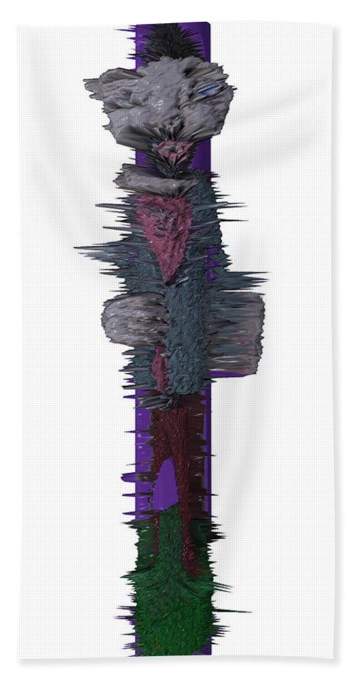 3d Digital Beach Towel featuring the photograph 3d Club Hammer by Robert Margetts