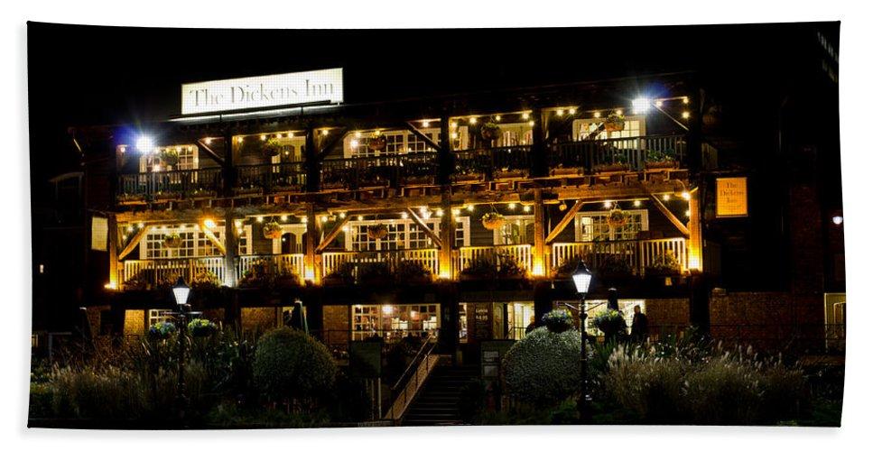 Pub Beach Towel featuring the photograph Dickens Inn Pub St Katherines Dock London by David Pyatt