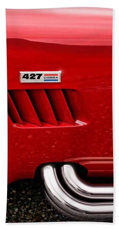 Ac Beach Sheet featuring the photograph 427 Ford Cobra by Gordon Dean II
